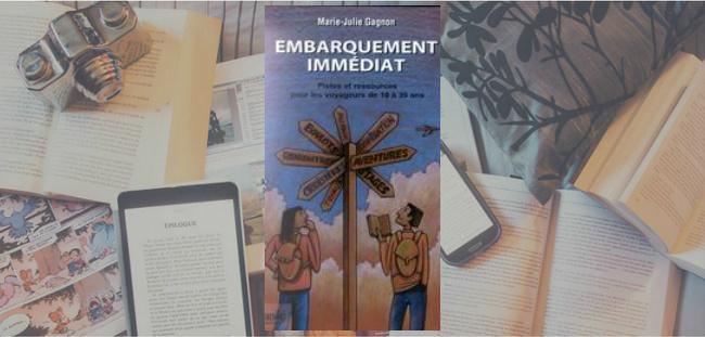 Couverture du livre Embarquement immédiat de Marie-Julie Gagnon.