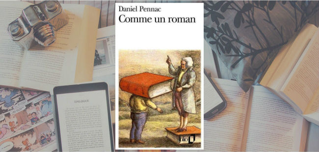 Couverture du livre Comme un roman de Daniel Pennac.
