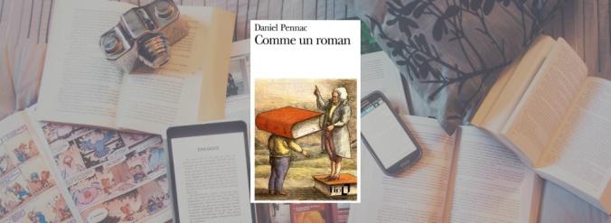 Couverture de Comme un roman de Daniel Pennac.