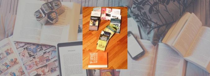 Photo thématique pour la section Julie vous répond, soit 14 livres qui forment un point d'interrogation.