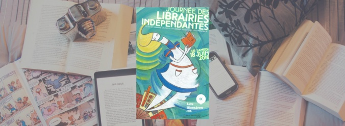 L'affiche de la Journée des librairies indépendantes, conçues par Francis Desharnais.