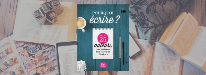 Couverture de Pourquoi écrire?, un recueil de textes sous la direction de Marie-Josée Guérin de Mots en bulle.