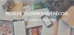 Plus de 20 livres québécois en 140 caractères maximum.