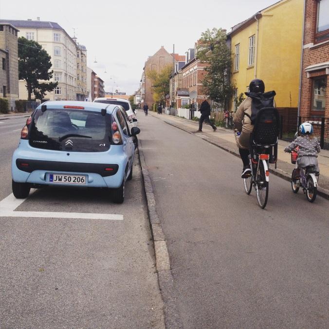 Vélos et voitures font bon ménage au Danemark.