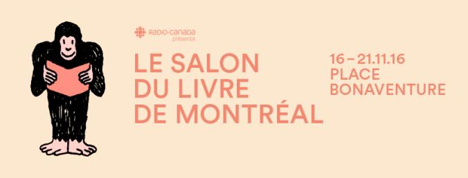 bannière du Salon du livre de Montréal 2016.
