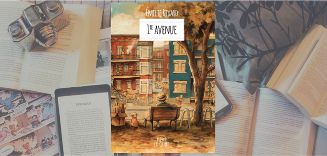 "Couverture du roman ""1re avenue"" de Émilie Rivard."