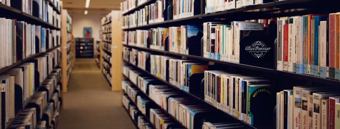 Rangée dans la bibliothèque Félix-Leclerc à Val-Bélair.