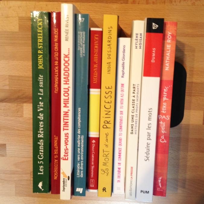 Les 10 livres sélectionnés pour le défi TASRIENVU