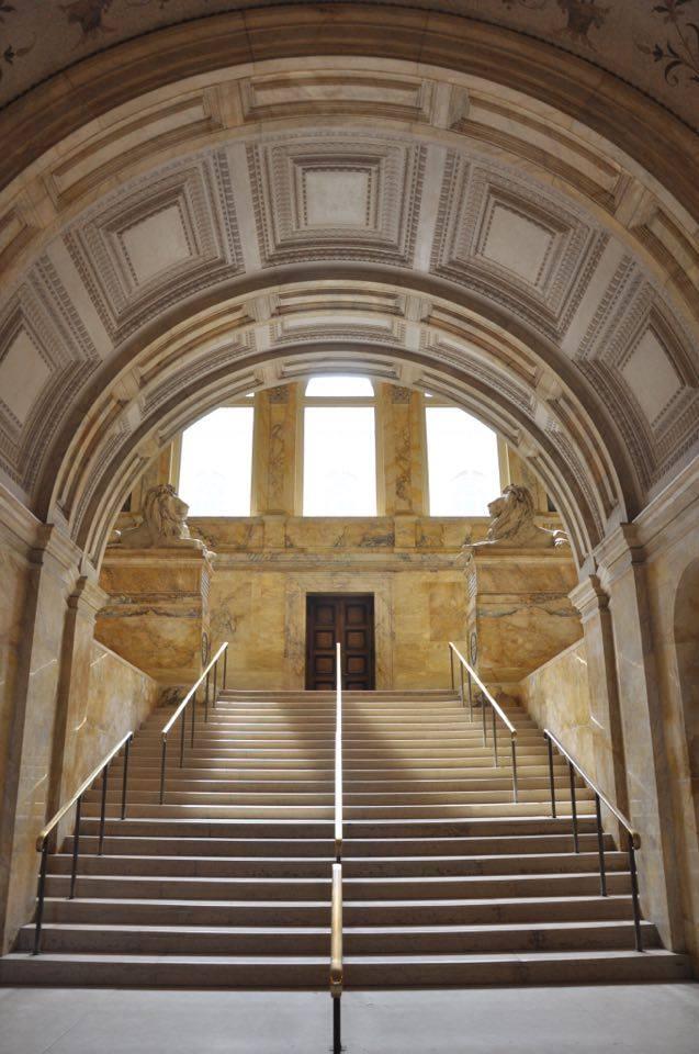 Hall d'entrée de la Boston Public Library.