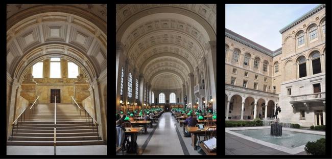 Photos de la Boston Public Library.
