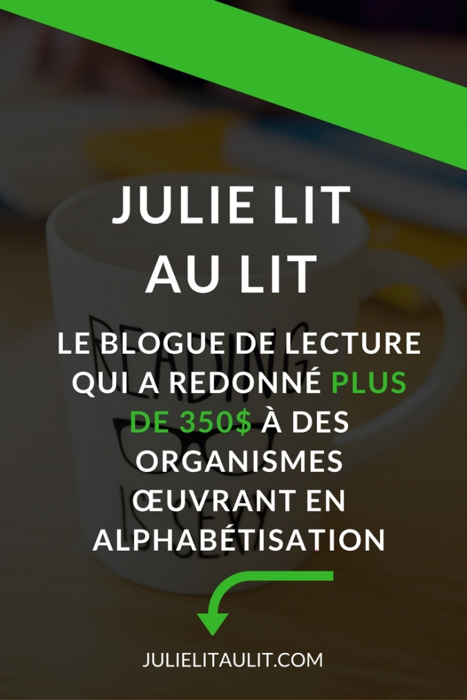 julie lit au lit la lectrice philanthrope donne 150 coll ge fronti re julie lit au lit. Black Bedroom Furniture Sets. Home Design Ideas