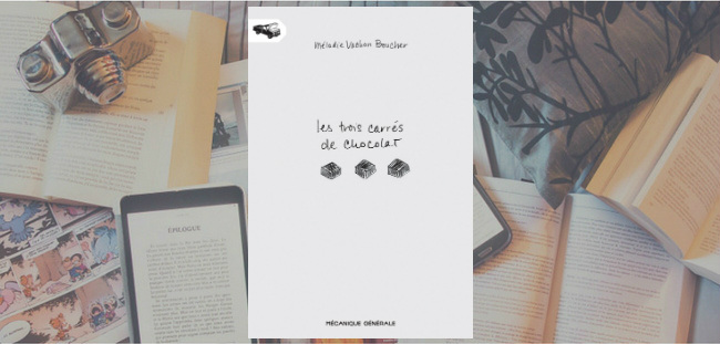 """Couverture du livre """"Les trois carrés de chocolat"""" de Mélodie Vachon Boucher."""