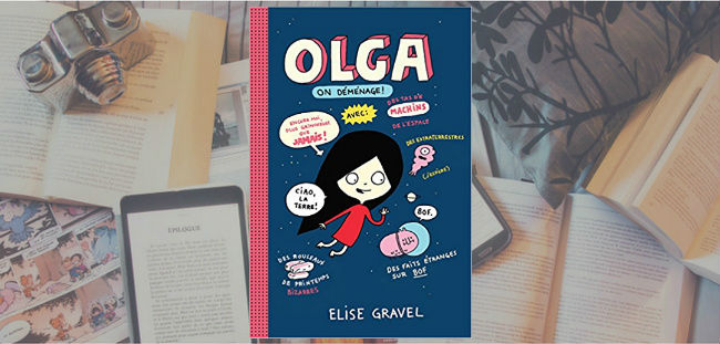 Couverture du livre Olga : on déménage! d'Elise Gravel.