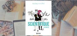 """Couverture du livre """"Ma vie avec un scientifique : la fertilité» de India Desjardins & Bach."""
