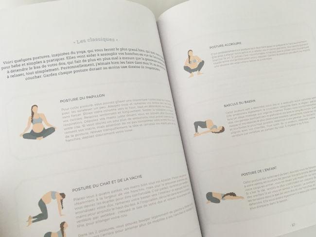 Postures de yoga suggérées par Josée-Anne Sarazin-Côté dans son Journal de grossesse.