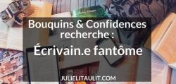 L'émission Bouquins & Confidences recherche un.e écrivain.e fantôme.