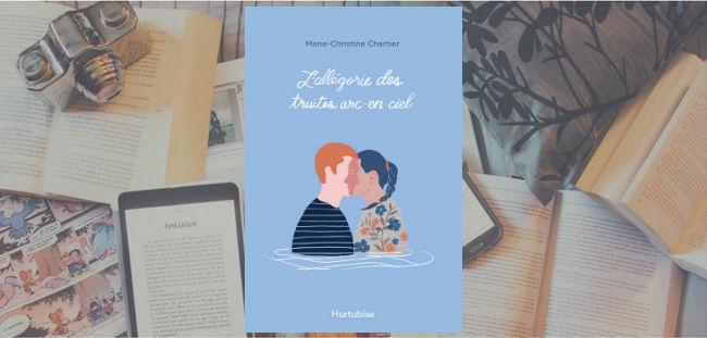 Couverture du roman L'allégorie des truites arc-en-ciel de Marie-Christine Chartier.