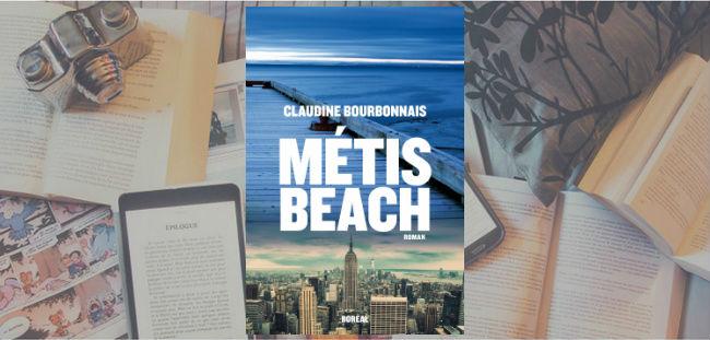 Couverture du roman Métis Beach de Claudine Bourbonnais, publié chez Boréal.