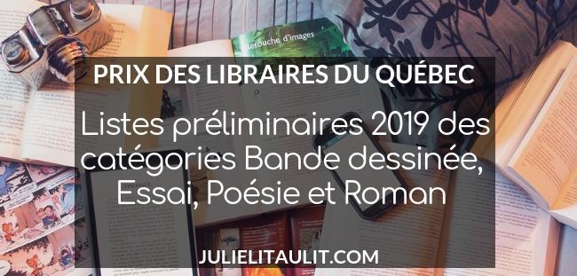 Prix des libraires 2019