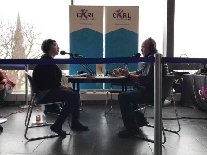 Julie Collin et Jean Désy en entrevue au Salon international du livre de Québec 2019.